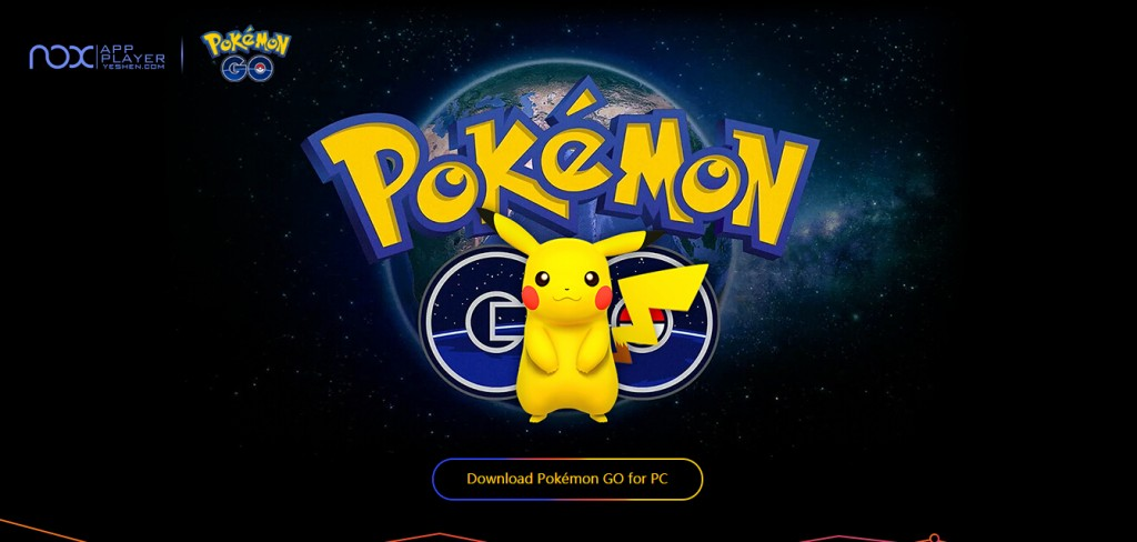 pokemon go for pc landing page