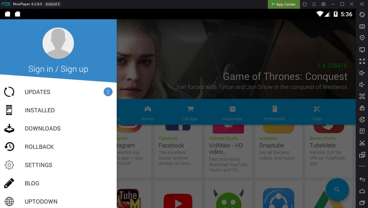 Now you can download apk file directly in NoxPlayer using